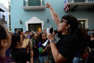 Plantón contra la violencia machista / Ana María Abruña