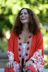 Isel Rodríguez, actriz del colectivo de comedia Teatro Breve