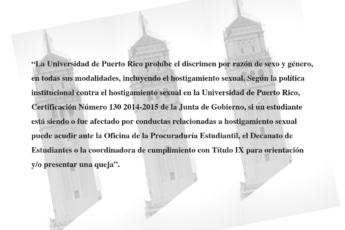 Política de hostigamiento sexual de la Universidad de Puerto Rico