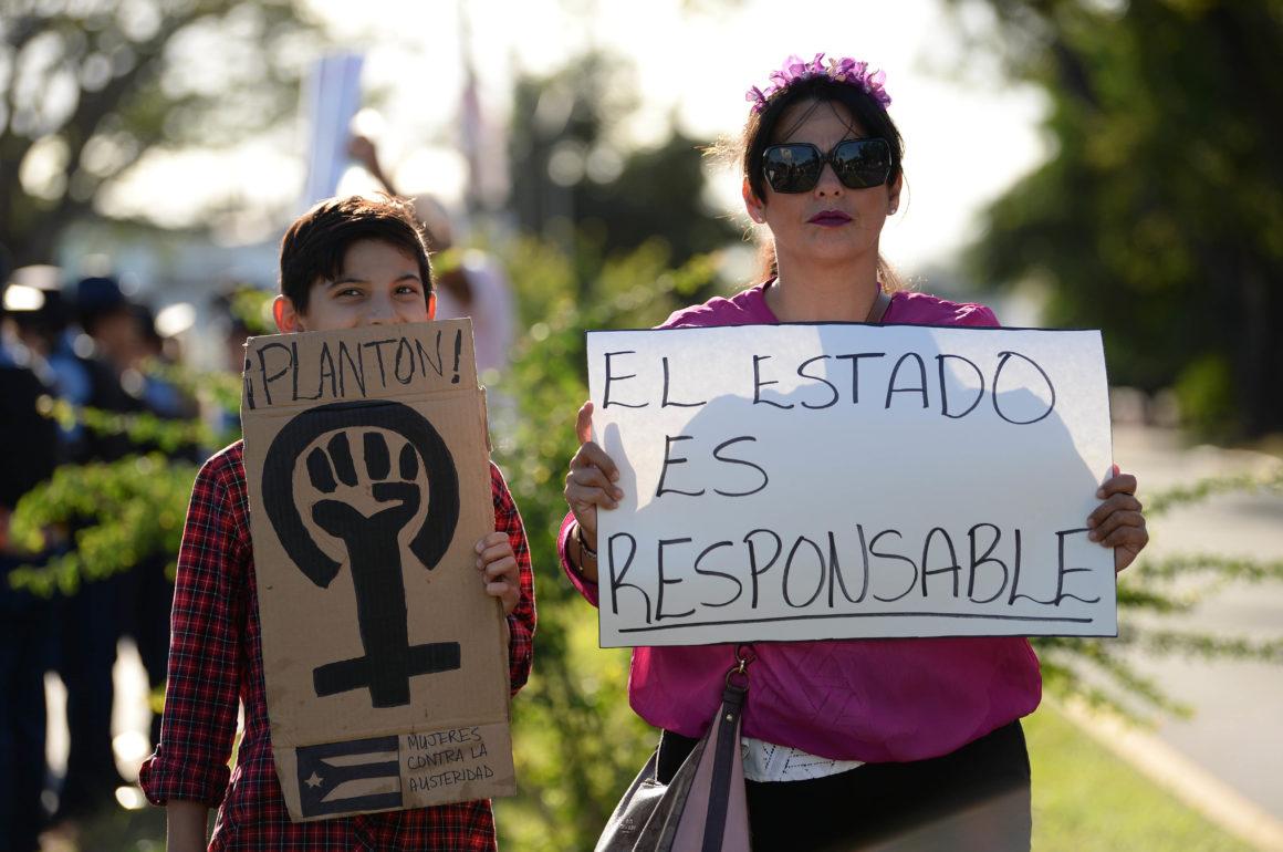 Manifestación de Colectiva Feminista en Construcción