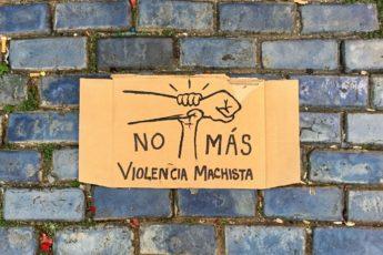 No más violencia machista / Ilustración de Andrea P. Montañez González