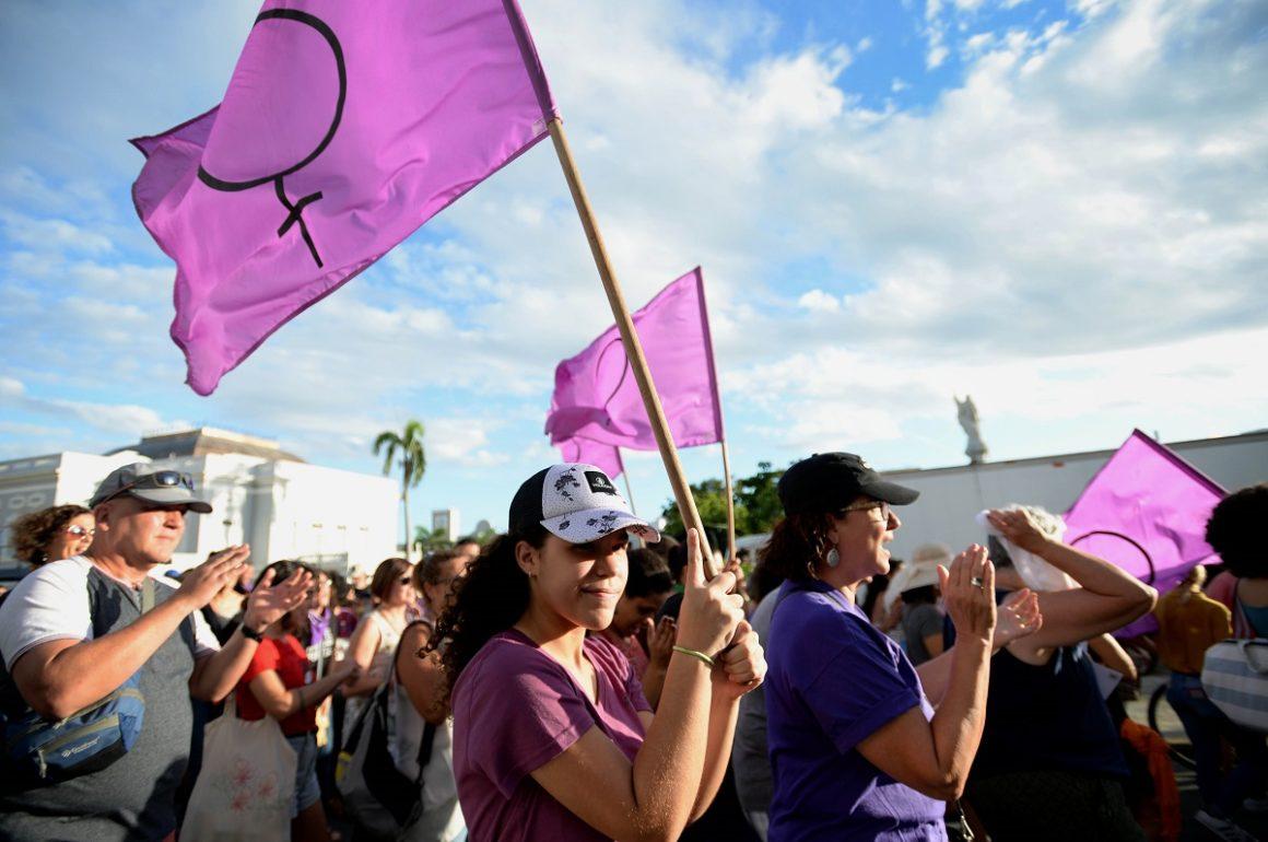 Foto del Plantón 23N convocado por la Colectiva Feminista en Construcción / archivo de Ana María Abruña