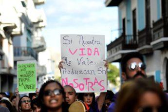 Foto del plantón feminista del 23 de noviembre de 2018 / Ana María Abruña Reyes