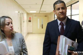 La fiscal de distrito de Ponce, Marjorie Gierbolini, y el fiscal Ildefonso Torres Rodríguez