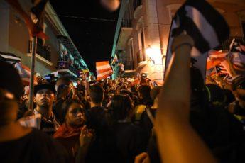 La noche en Ricardo Rosselló renunció. Willín Rodríguez.