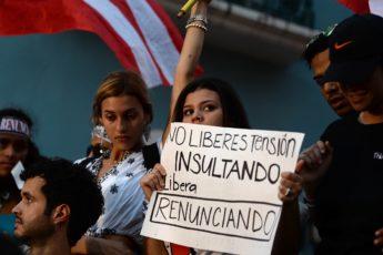 Manifestación por la renuncia de Ricardo Rosselló, noveno día, 19 de julio de 2019 (Ana María Abruña Reyes)