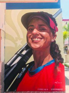 Mural de Yarimar Mercado en Yauco