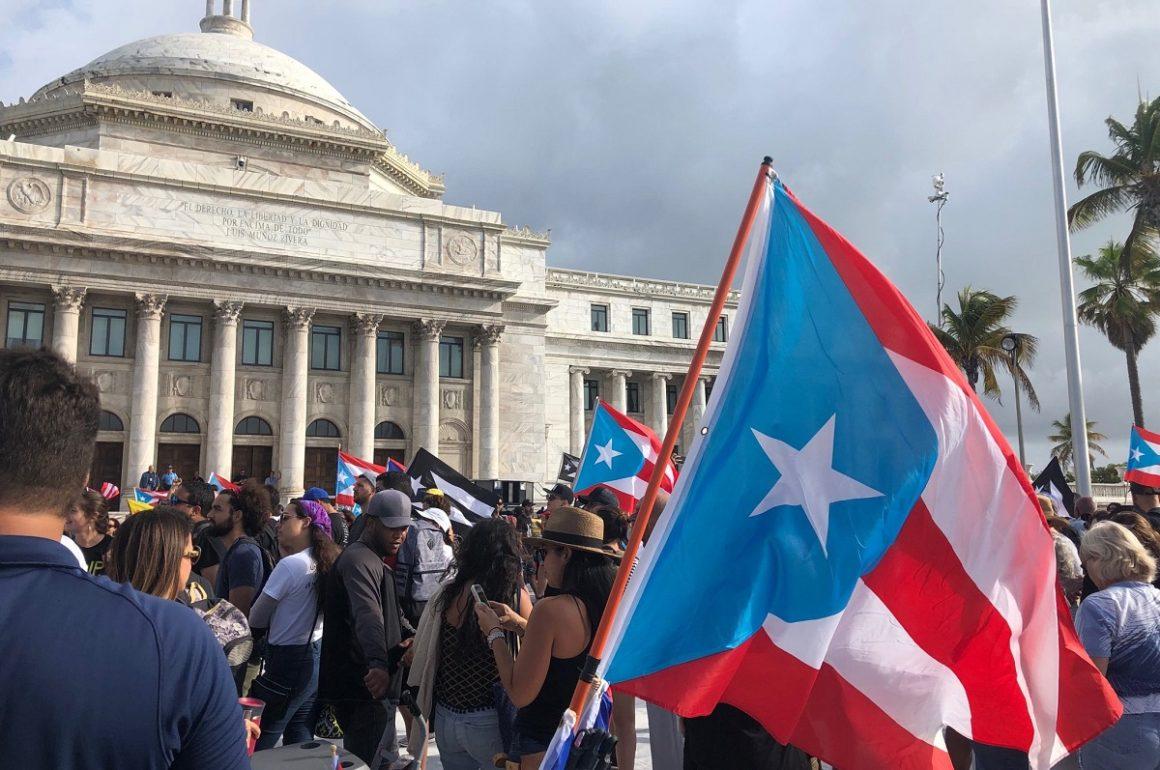 Quinto dia de manifestaciones por la renuncia del gobernador de Puerto Rico, Ricardo Rosselló.