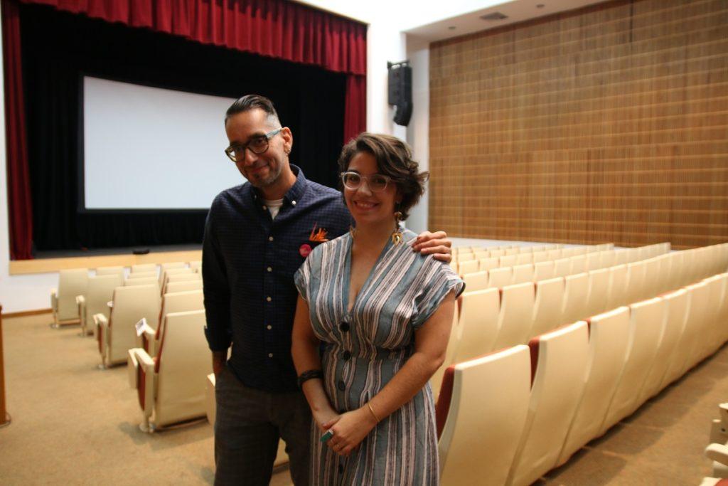 El director Guillermo Gómez Álvarez y la coordinadora fiscal del Proyecto Matria, Nicole Curet Alvarado. (Angeli M. García Ortiz)