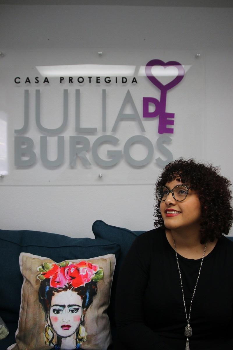 Coraly León Morales, Casa Protegida Julia de Burgos