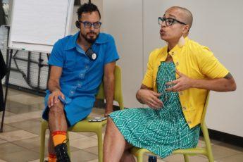 Ignacio G. Hutía Xeiti Rivera taller Nosotres, todes: la fluidez como identidad de género, en el Centro Universitario de la Universidad de Puerto Rico, en Río Piedras, el 13 de noviembre de 2019