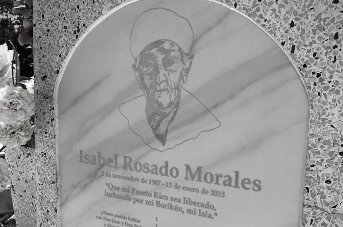 Tumba de la líder nacionalista puertorriqueña Isabel Rosado Morales