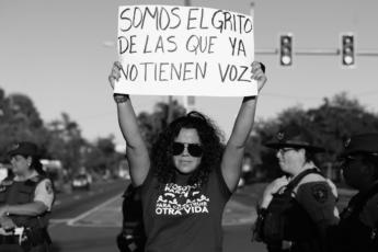 Manifestación contra la violencia de género en Puerto Rico y la indolencia de la Policía