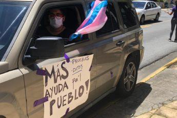 Caravana feminista protesta COVID-19