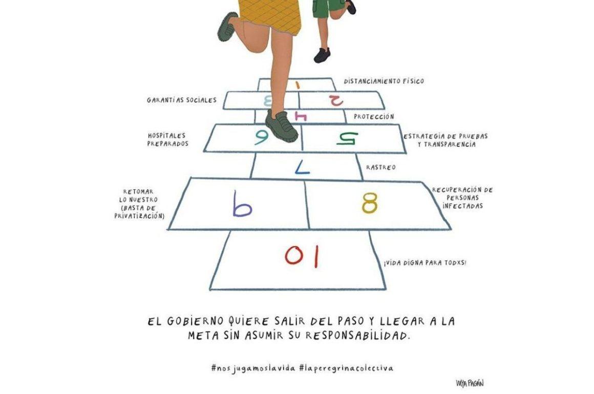 Ilustración La peregrina por Mya Pagán