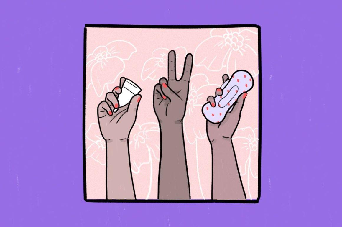 Usa de copa menstrual y toallas sanitarias en Puerto Rico