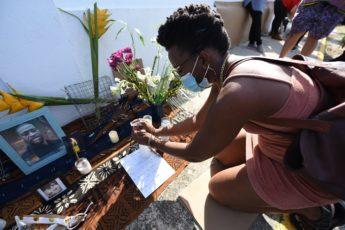 Vigilia por George Floyd en Loíza, Puerto Rico. Foto por Ana María Abruña Reyes