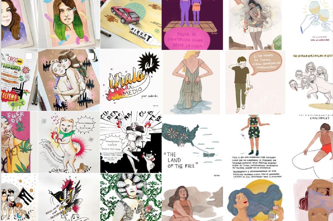 Ilustradoras provocan conversaciones en las redes sociales