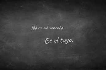 No es mi secreto
