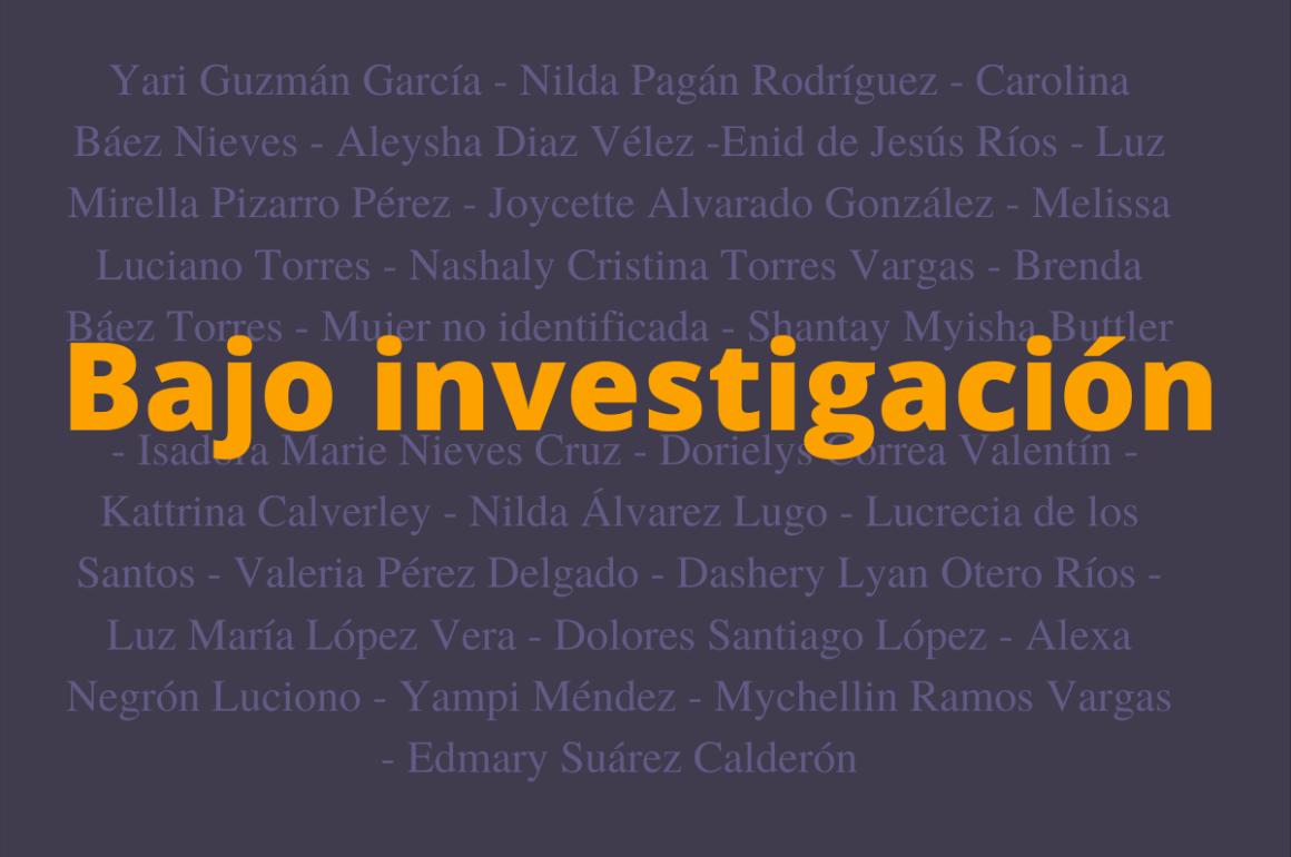 25 feminicidios de 2020 sin esclarecer