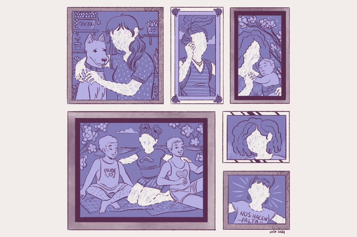 Ilustración de Rosa Colón sobre feminicidios