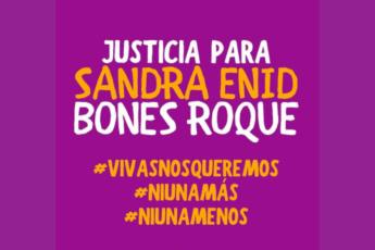Justicia para Sandra Enid Bones Roque